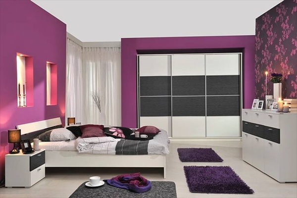 teenage girls needs for purple bedroom home with design