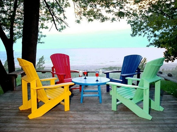 Adirondack Chairs With Thomas Lee Design Ideas Home With