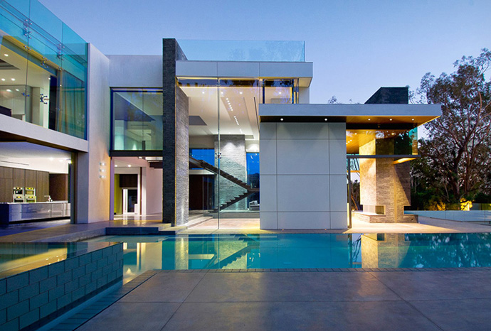 home design with swimmin pool