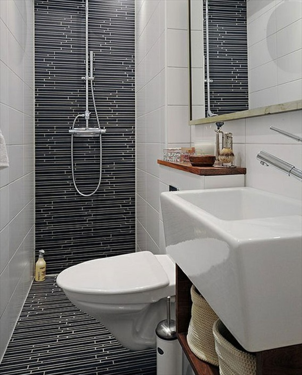 15 modern and small bathroom design ideas home with design for Tiny bathroom tile ideas