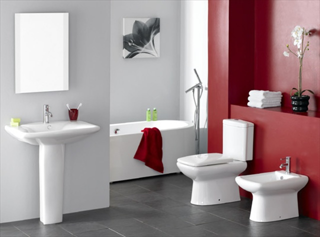 Some simple steps to decorate a bathroom home with design for Washroom designs pictures
