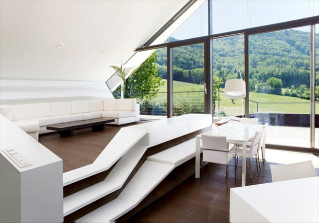 house with futuristic interiors