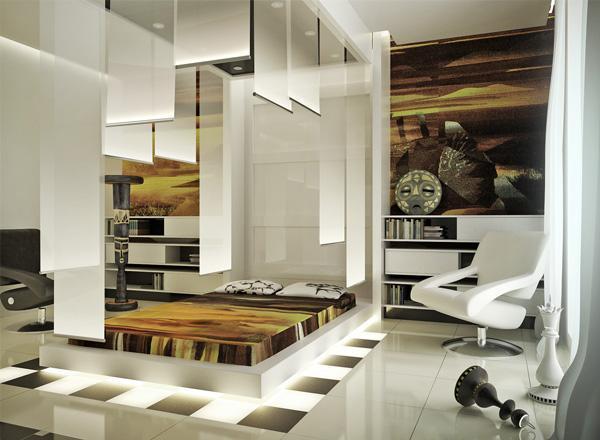 white texture sanctuary bedroom idea