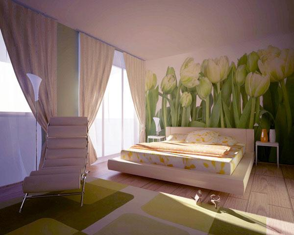 sanctuary bedroom with flower theme