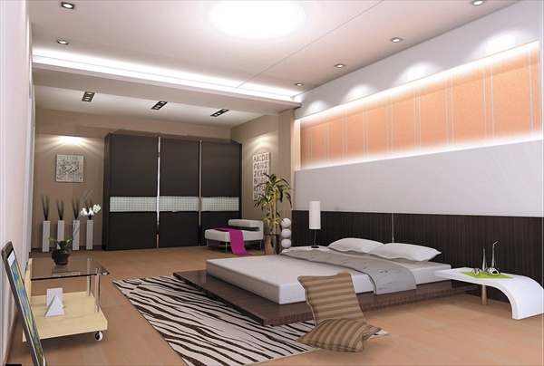 modern cool  bedroom idea
