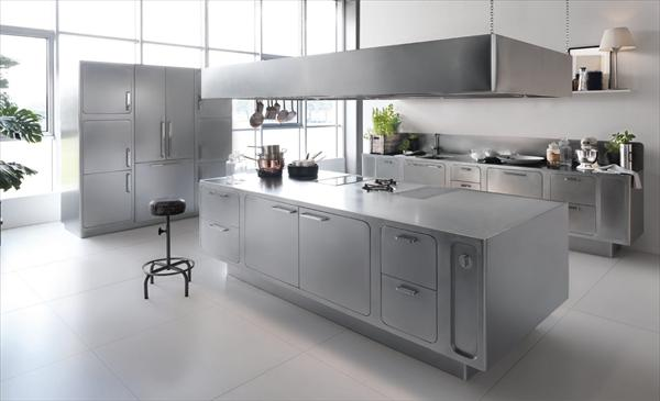 modrn kitchen design in silver