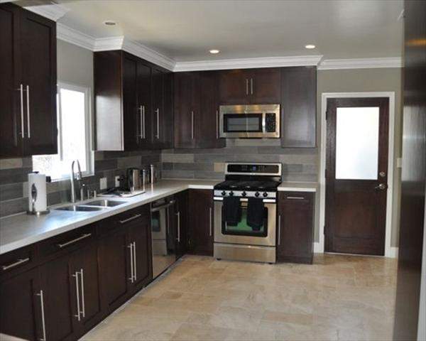 latest kitchen design in whtie and brown
