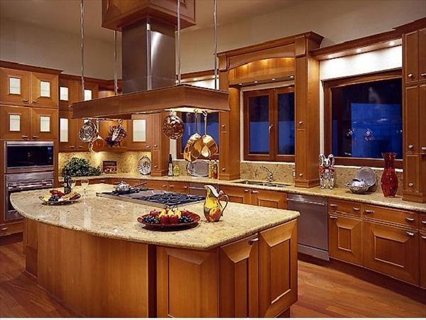 modern kitchen design in brown
