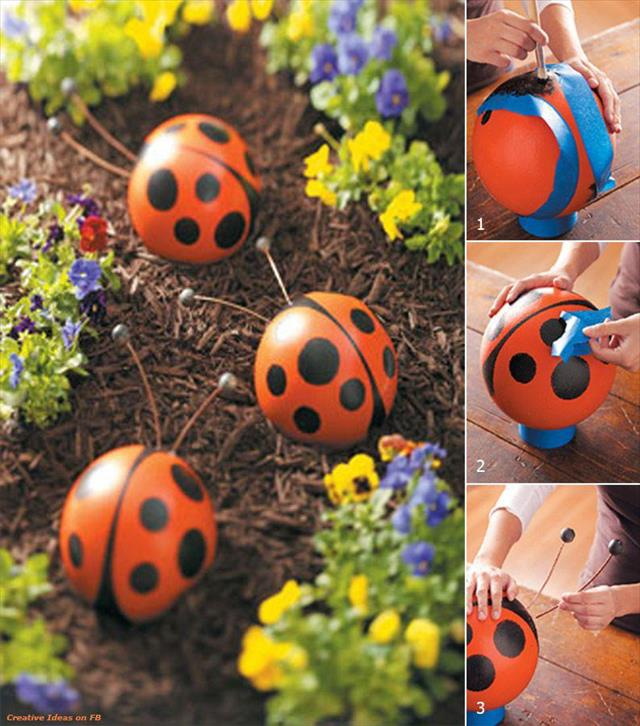 Ladybug Bowling Balls For Your Garden