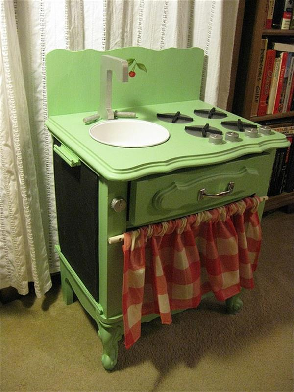 how to make a play kitchen set