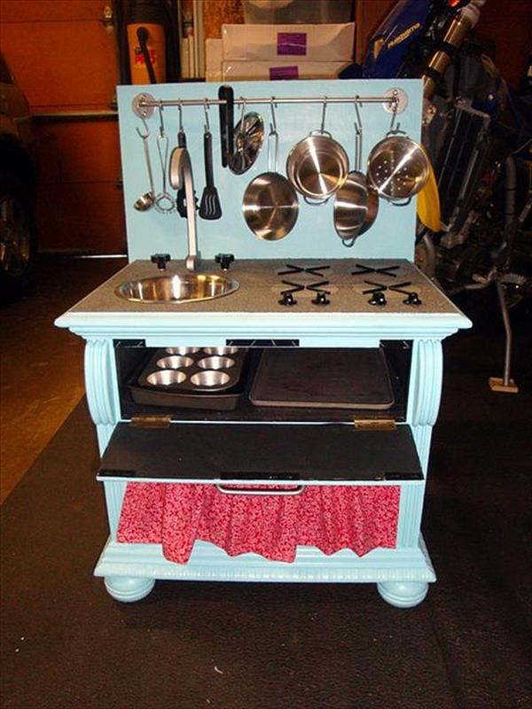 DIY Play Kitchen Sets