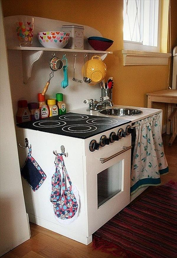 10 diy play kitchen sets home with design for Play kitchen designs