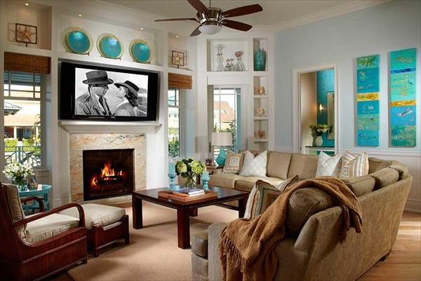 Coastal living coastal interior decor home with design for Coastal living rooms ideas