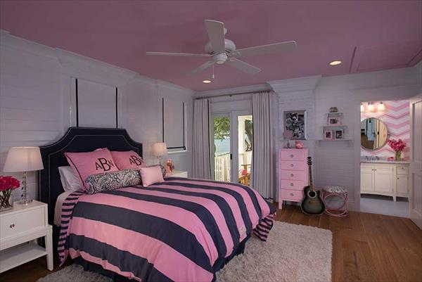 coastal pink bedroom design
