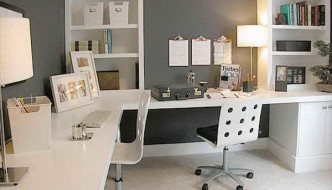 well organized home office