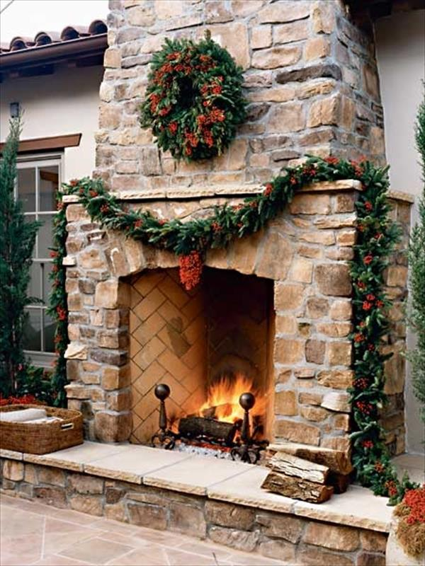 6 Beautiful Outdoor Fireplaces | Home with Design on Outdoor Fireplaces Ideas id=55609