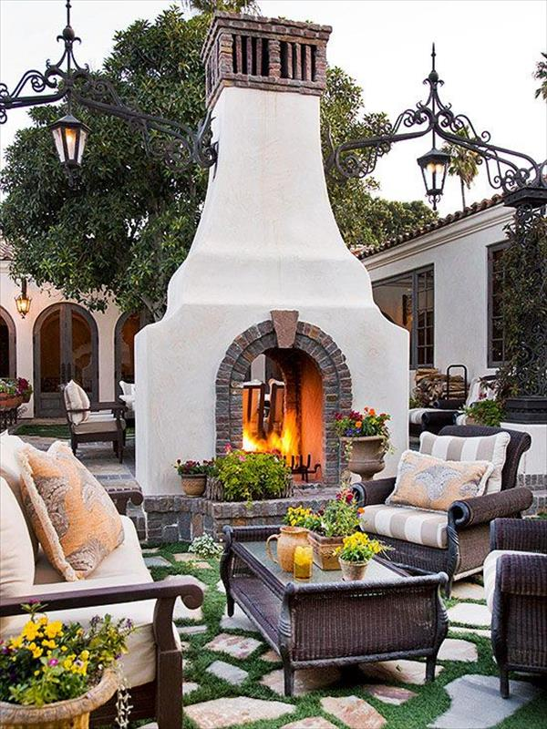 6 Beautiful Outdoor Fireplaces | Home with Design on Front Range Outdoor Living id=80791